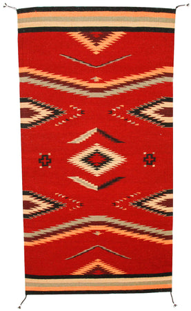 Handwoven Zapotec Indian Rug - Walk in Beauty Wool Oaxacan Textile