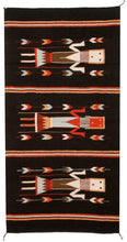 Load image into Gallery viewer, Handwoven Zapotec Indian Rug - Yei Black Wool Oaxacan Textile