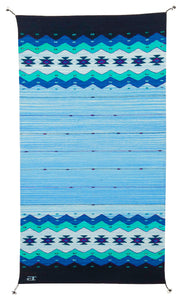 Handwoven Zapotec Indian Rug - Zapotec Midnight Wool Oaxacan Textile