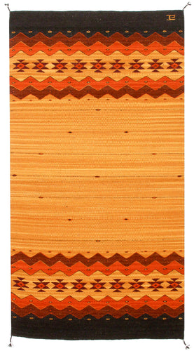 Handwoven Zapotec Indian Rug - Zapotec Sunset Wool Oaxacan Textile