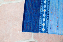 Load image into Gallery viewer, Handwoven Zapotec Indian Rug - Night Stars Wool Oaxacan Textile