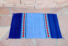 Load image into Gallery viewer, Handwoven Zapotec Indian Rug - Sunset Stars Wool Oaxacan Textile