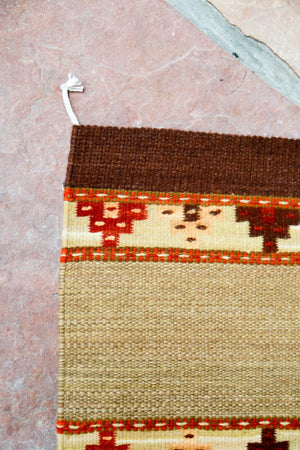 Handwoven Zapotec Indian Rug - Yagul Wool Oaxacan Textile