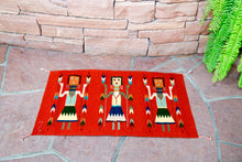Load image into Gallery viewer, Handwoven Zapotec Indian Rug - Yei Brick Wool Oaxacan Textile