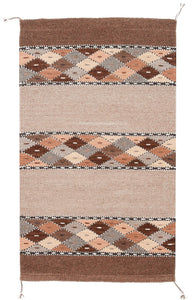 Handwoven Zapotec Rug - Book Cliffs Wool Oaxacan Textile