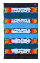 Load image into Gallery viewer, Handwoven Zapotec Indian Rug - La Playa Wool Oaxacan Textile