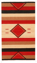 Load image into Gallery viewer, Handwoven Zapotec Indian Rug - Rombos Wool Oaxacan Textile