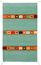 Load image into Gallery viewer, Handwoven Zapotec Indian Rug - Tipo Peru Jade Wool Oaxacan Textile