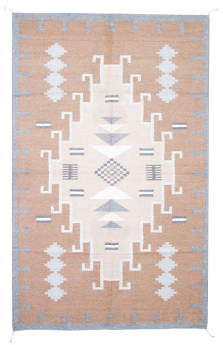 Handwoven Zapotec Indian Rug - 1920s Lincoln Natural
