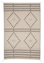 Load image into Gallery viewer, Handwoven Zapotec Indian Rug - First Mesa Natural Wool Oaxacan Textile