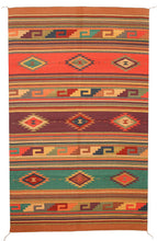 Load image into Gallery viewer, Handwoven Zapotec Indian Rug - Istmo Wool Oaxacan Textile
