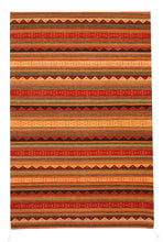 Load image into Gallery viewer, Handwoven Zapotec Indian Rug - Montanitas Wool Oaxacan Textile