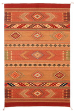 Load image into Gallery viewer, Handwoven Zapotec Indian Rug - Toscana Wool Oaxacan Textile