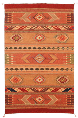 Handwoven Zapotec Indian Rug - Toscana Wool Oaxacan Textile