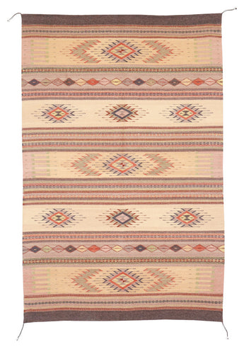 Handwoven Zapotec Indian Rug - Tubac Sunset Wool Oaxacan Textile