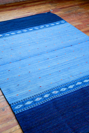 Handwoven Zapotec Indian Rug - Night Stars Wool Oaxacan Textile