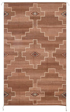 Load image into Gallery viewer, Handwoven Zapotec Indian Rug - Spirit Diamond Wool Oaxacan Textile