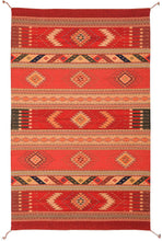 Load image into Gallery viewer, Handwoven Zapotec Indian Rug - Seven Jewels Wool Oaxacan Textile