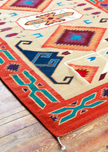 Load image into Gallery viewer, Handwoven Zapotec Indian Rug - Tees Miel Wool Oaxacan Textile