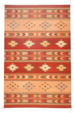 Load image into Gallery viewer, Handwoven Zapotec Indain Rug - Cubos Wool Oaxacan Textile