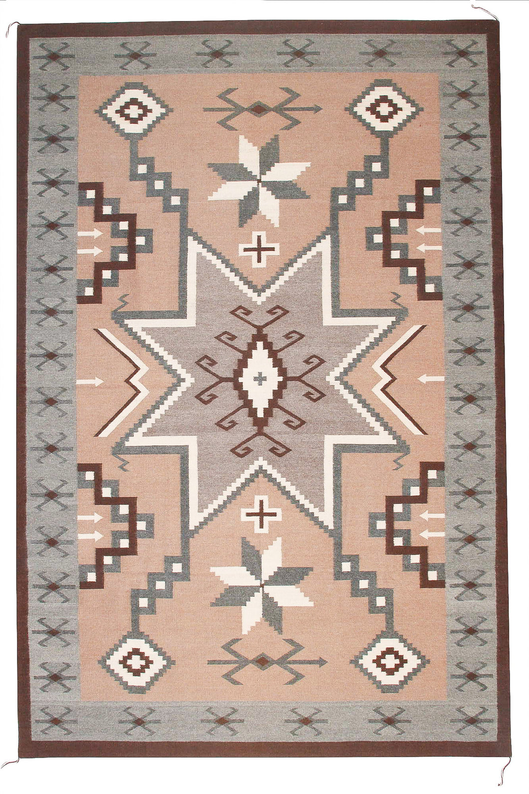Handwoven Zapotec Indian Rug - Storm of Stars Wool Oaxacan Textile