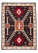 Load image into Gallery viewer, Handwoven Zapotec Indian Rug - Oaxacan Storm Wool Textile