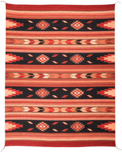 Load image into Gallery viewer, Handwoven Zapotec Indian Rug - Embers Negro Wool Oaxacan Textile