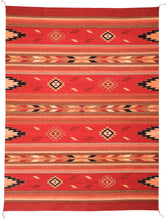 Load image into Gallery viewer, Handwoven Zapotec Indian Rug - Embers Rojo Wool Oaxacan Rug
