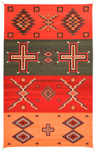 Load image into Gallery viewer, Handwoven Zapotec Indian Rug - Germantown Trai Wool Oaxacan Textile