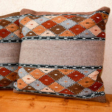 Load image into Gallery viewer, Handwoven Zapotec Pillow - Book Cliffs Wool Oaxacan Textile