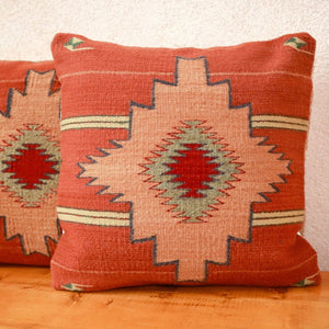 Handwoven Zapotec Indian Pillow - Estrella Frutal Wool Oaxacan Textile