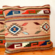 Load image into Gallery viewer, Handwoven Zapotec Indian Pillow - Ganchos y Medallion Wool Oaxacan Textile