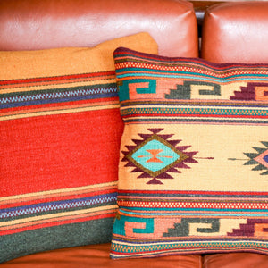Handwoven Zapotec Indian Pillow - Midday Maynard Cintas Wool Oaxacan Textile