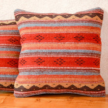 Load image into Gallery viewer, Handwoven Zapotec Indian Pillow - Montanitas Meli Wool Oaxacan Textile
