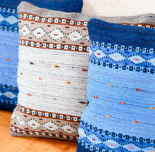 Load image into Gallery viewer, Handwoven Zapotec Indian Pillow - Phases of the Moon Wool Oaxacan Textile