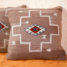 Load image into Gallery viewer, Handwoven Zapotec Pillow - Spirit Diamond Wool Oaxacan Textile