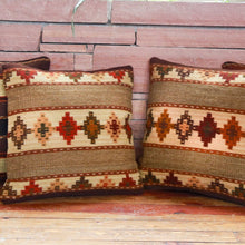 Load image into Gallery viewer, Handwoven Zapotec Indian Pillow - Yagul Wool Oaxacan Textile