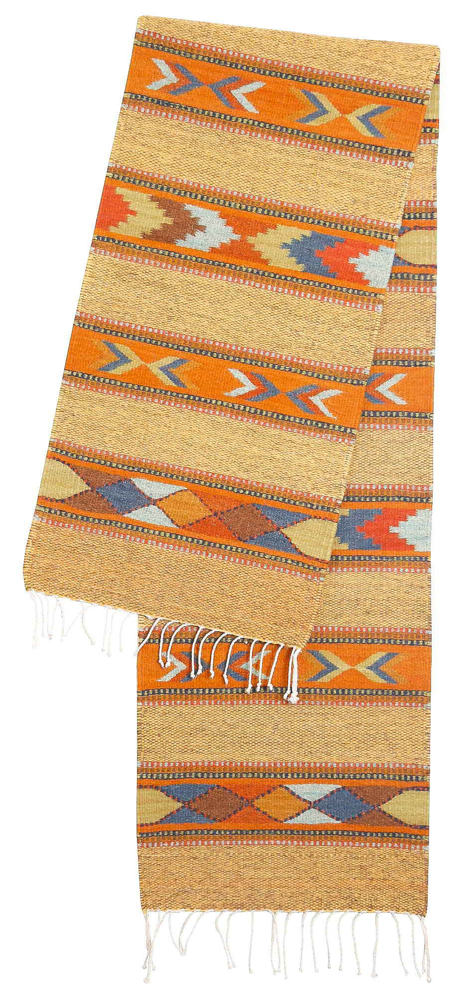 Handwoven Zapotec Table Runner - Cintas Juarez Wool Oaxacan Textile
