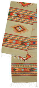 Handwoven Zapotec Indian Table Runner - Diamante Alas Wool Oaxacan Textile