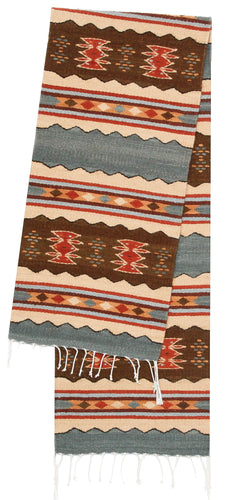 Handwoven Zapotec Indian Table Runner - Meli's Mar Wool Oaxacan Textile