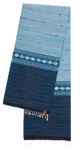 Handwoven Zapotec Indian Table Runner - Night Stars Wool Oaxacan Textile