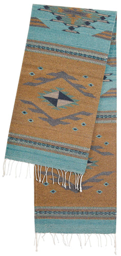 Handwoven Zapotec Indian Table Runner - Vallarta Wool Oaxacan Textile