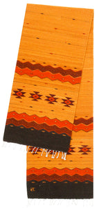 Handwoven Zapotec Indian Table Runner - Zapotec Sunset Wool Oaxacan Textile