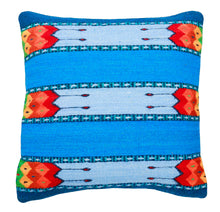 Load image into Gallery viewer, Handwoven Zapotec Indian Pillow - La Playa Wool Oaxacan Textile