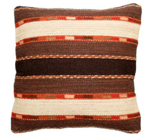 Load image into Gallery viewer, Handwoven Zapotec Indian Pillow - Triquis Negro Wool Oaxacan Textile
