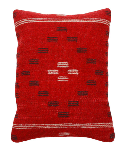 Handwoven Zapotec Indian Pillow - First Mesa Wool Oaxacan Textile
