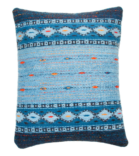 Handwoven Zapotec Indian Pillow - Night Stars Wool Oaxacan Textile