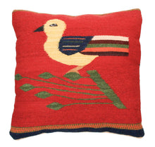 Load image into Gallery viewer, Handwoven Zapotec Pillow - Bird Wool Oaxacan Textile