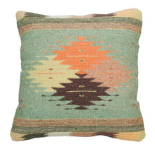 Load image into Gallery viewer, Handwoven Zapotec Indian Pillow - Cuatro Estancias Wool Oaxacan Textile