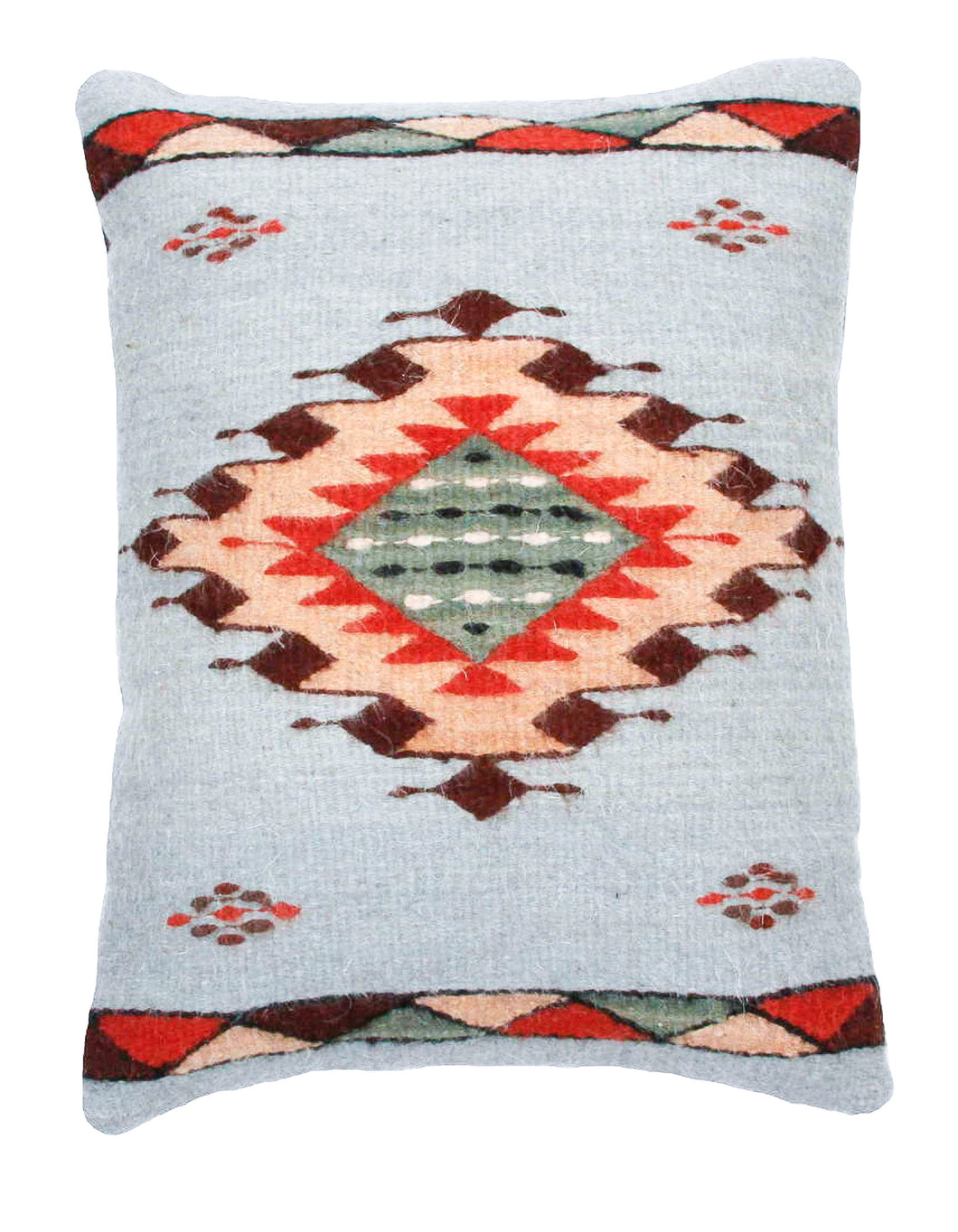 Handwoven Zapotec Indian Pillow - Meli's Star Wool Oaxacan Textile